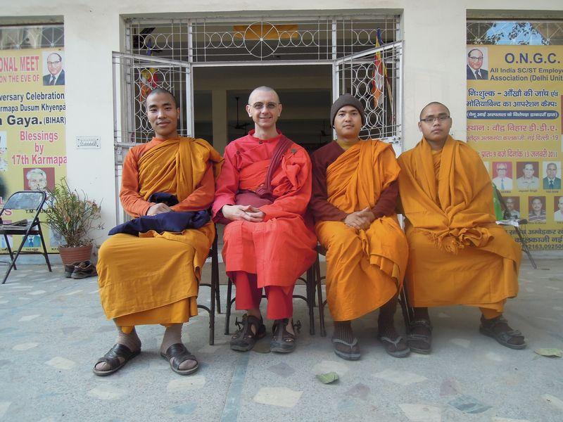 With monks in Delhi Dec 2011